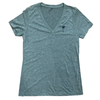 Ladies Grey V-neck Palm Tee