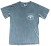 Grey Short Sleeve Flag Pocket Tee