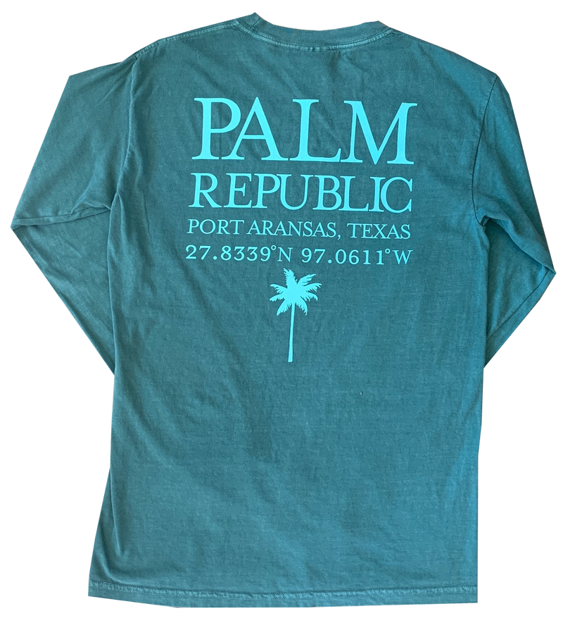 Light Green Long Sleeve Location Tee