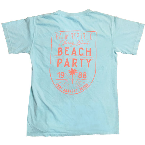 Navy and Coral Yacht Club Tee