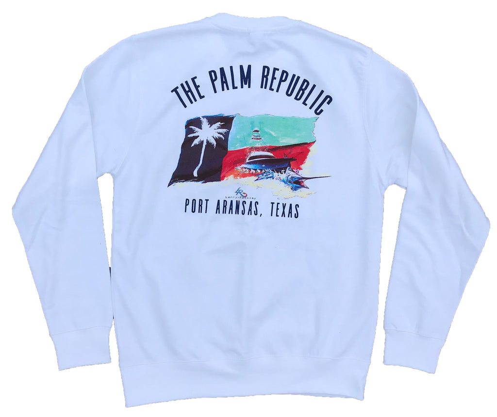 'PALM REPUBLIC OFFSHORE 2018' X LARRY RACKLEY Official Print Pullover Sweater