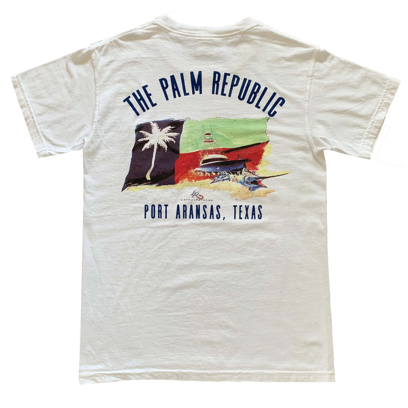 PALM REPUBLIC OFFSHORE 2018' X LARRY RACKLEY Official Print Short Sleeve