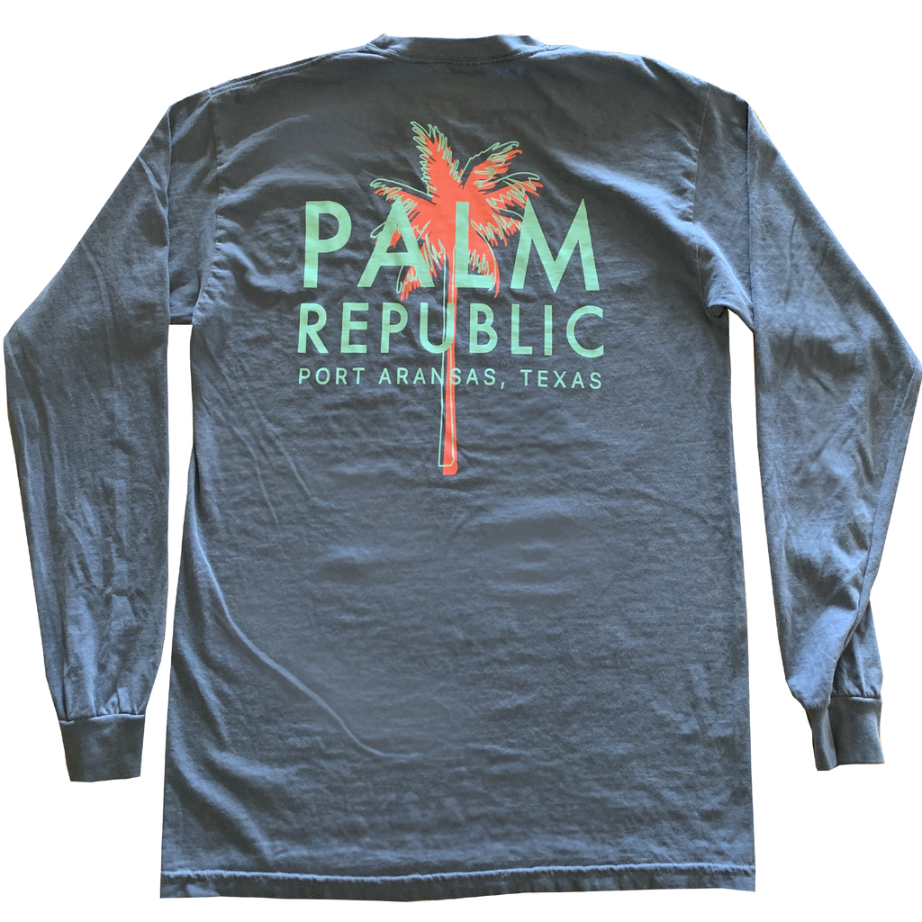 Denim Blue Havana Tee Long Sleeve