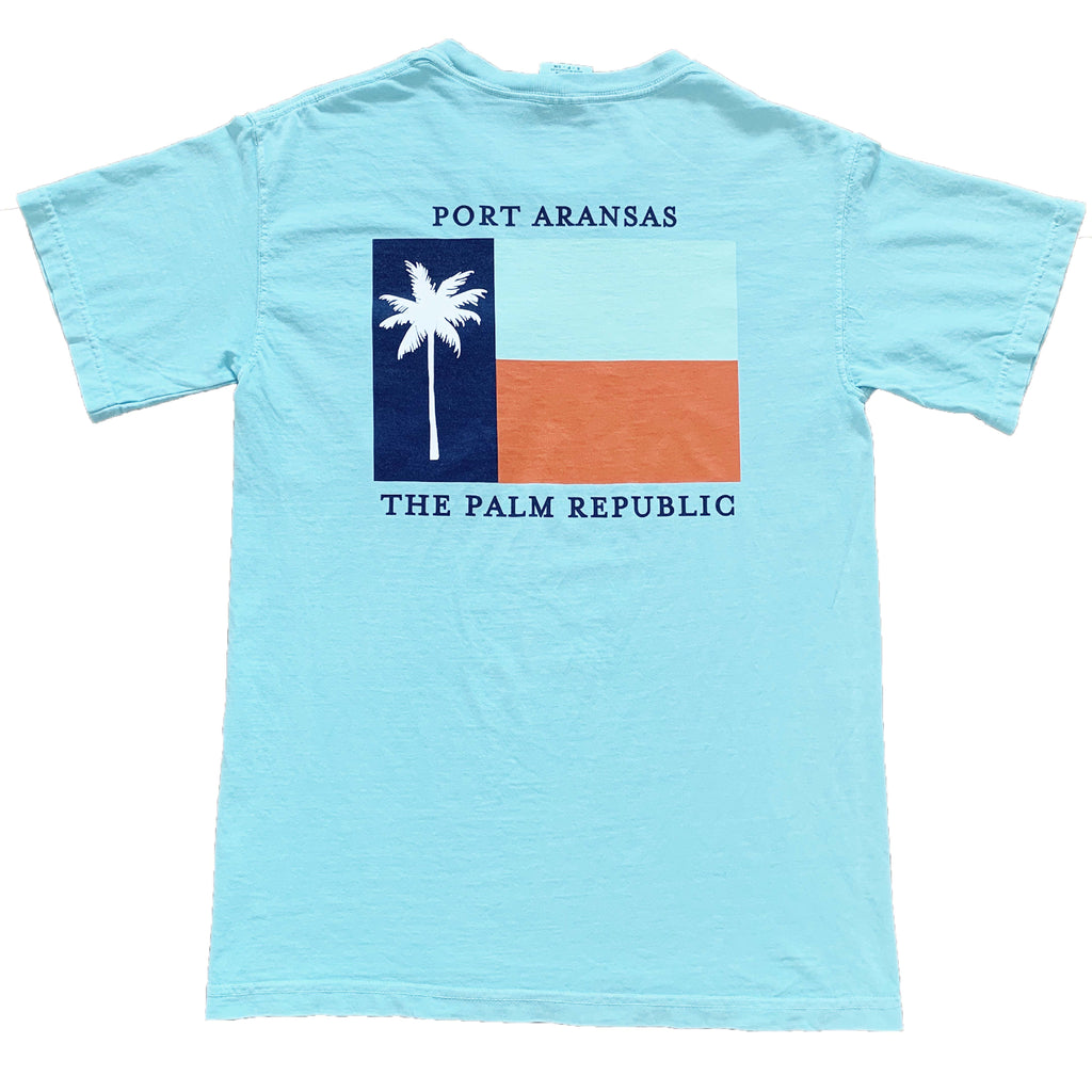 Seafoam Short Sleeve Flag Pocket Tee