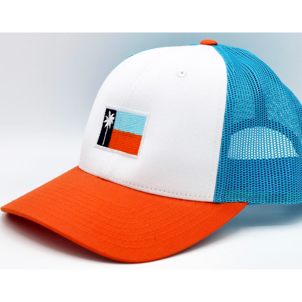 The Buoy Mesh Sportsman's Flag Cap