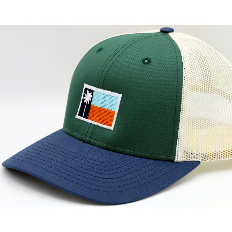 The Gulf Mesh Sportsman's Flag Cap