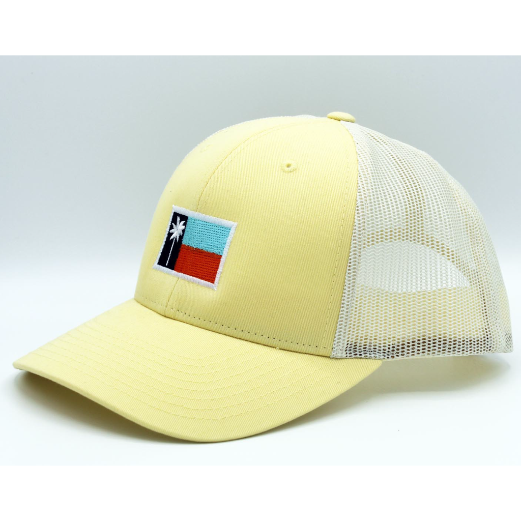 Sail Yellow Mesh Sportsman's Flag Cap