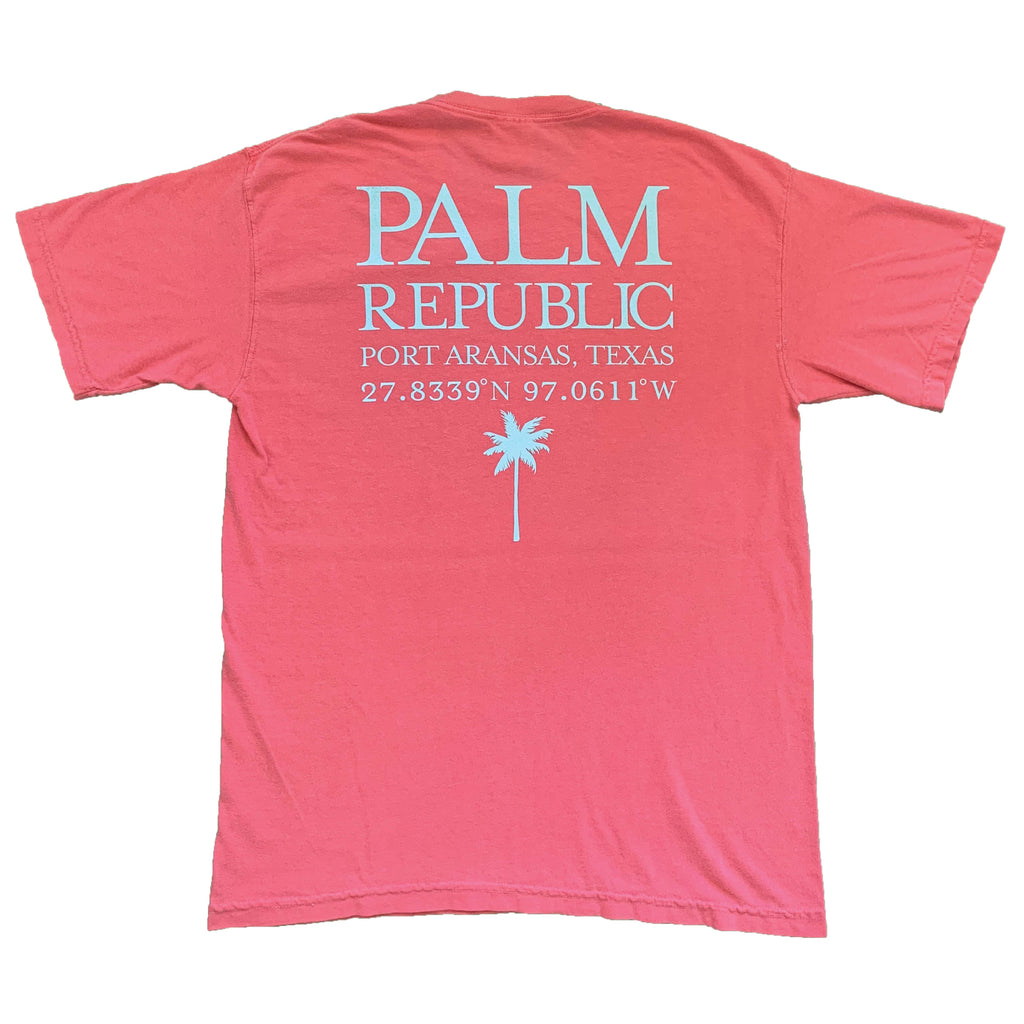 Watermelon Latitude & Longitude Port Aransas Tee