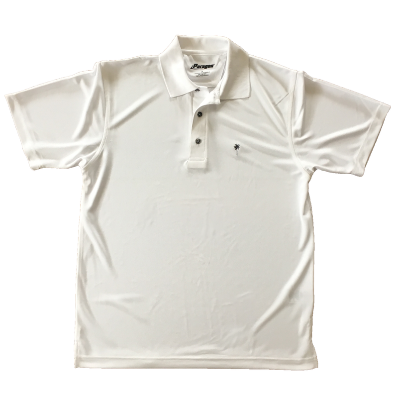 Palm Embroidered White Dri-fit Polo