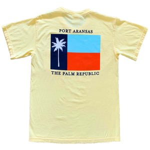 Panama Yellow Short Sleeve Flag Pocket Tee