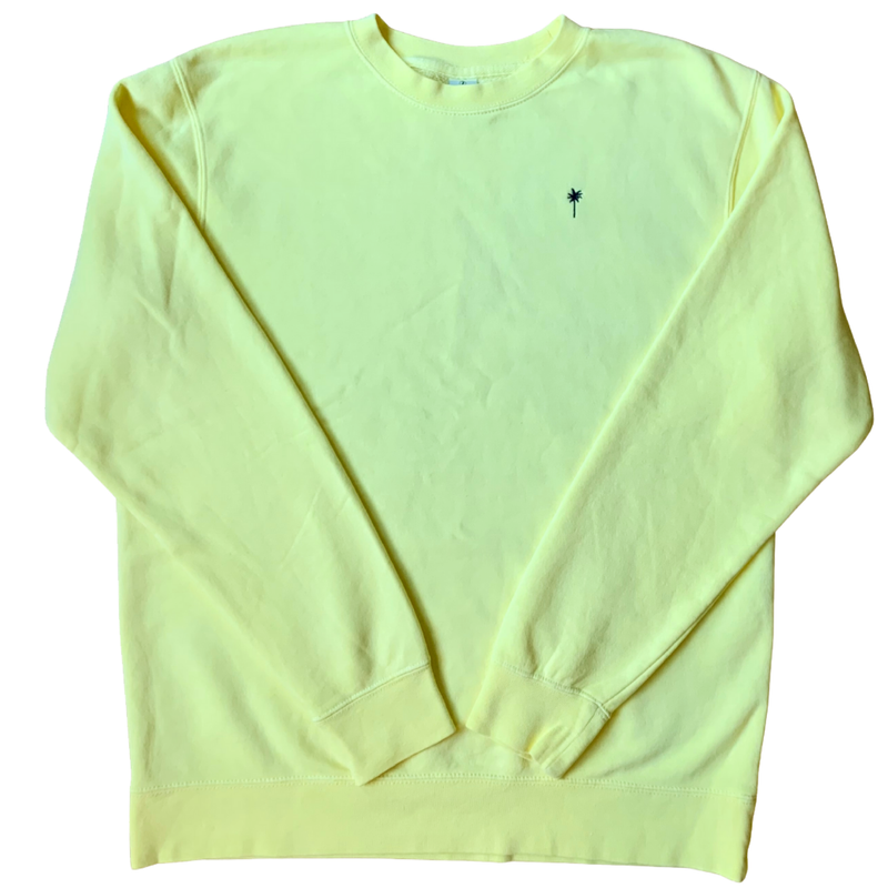 Soft Yellow Beach House Pullover