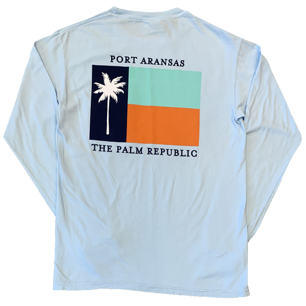 Chambray Long Sleeve Flag Pocket Tee