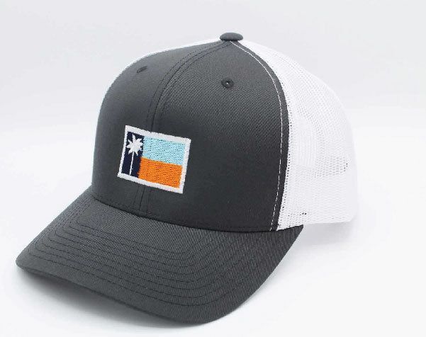 Charcoal Mesh Sportsman's Flag Cap