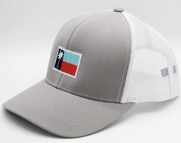 Grey Mesh Sportsman's Flag Cap