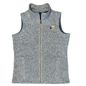 Ladies' Grey Sweaterfleece Vest