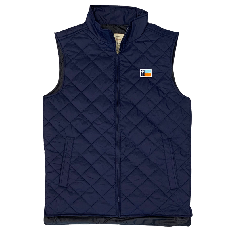 Men's Navy Quilted Heritage Vest