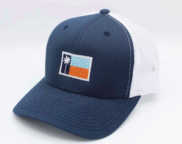 Navy Mesh Sportsman's Flag Cap