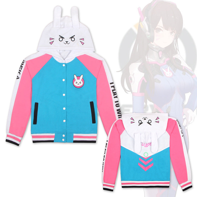 D.Va Rabbit ear hoodie FREE US shipping