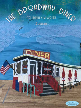 The Broadway Diner Poster or Postcard