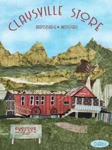 The Claysville Store - Full Color Poster Size 12x16