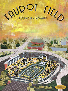 MU Faurot Field - Full Color Poster Size 12x16