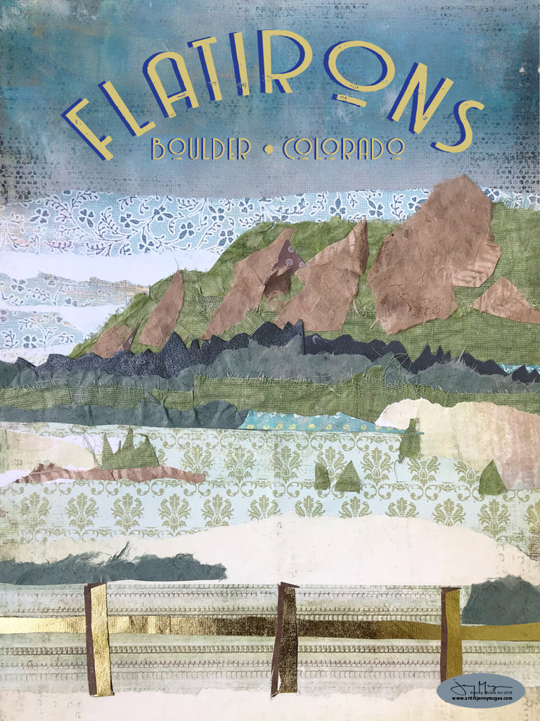 The Flatirons Poster or Postcard