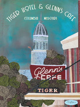 Glenn's Cafe and Tiger Hotel  Poster or Postcard