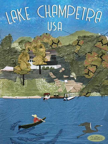 Lake Champetra USA - Full Color Poster Size 12x16