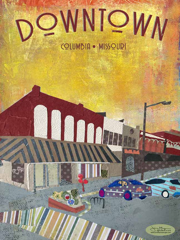 Downtown Columbia Missouri - Full Color Poster Size 12x16