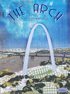 St Louis Arch  - Full Color Poster Size 12x16