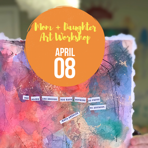 April 8 Mom + Daughter Painting Workshop at 10:30