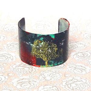 Tree of Life III Hand painted Cuff - 1.5""