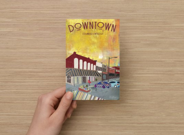 Downtown Columbia Missouri Poster or Postcard