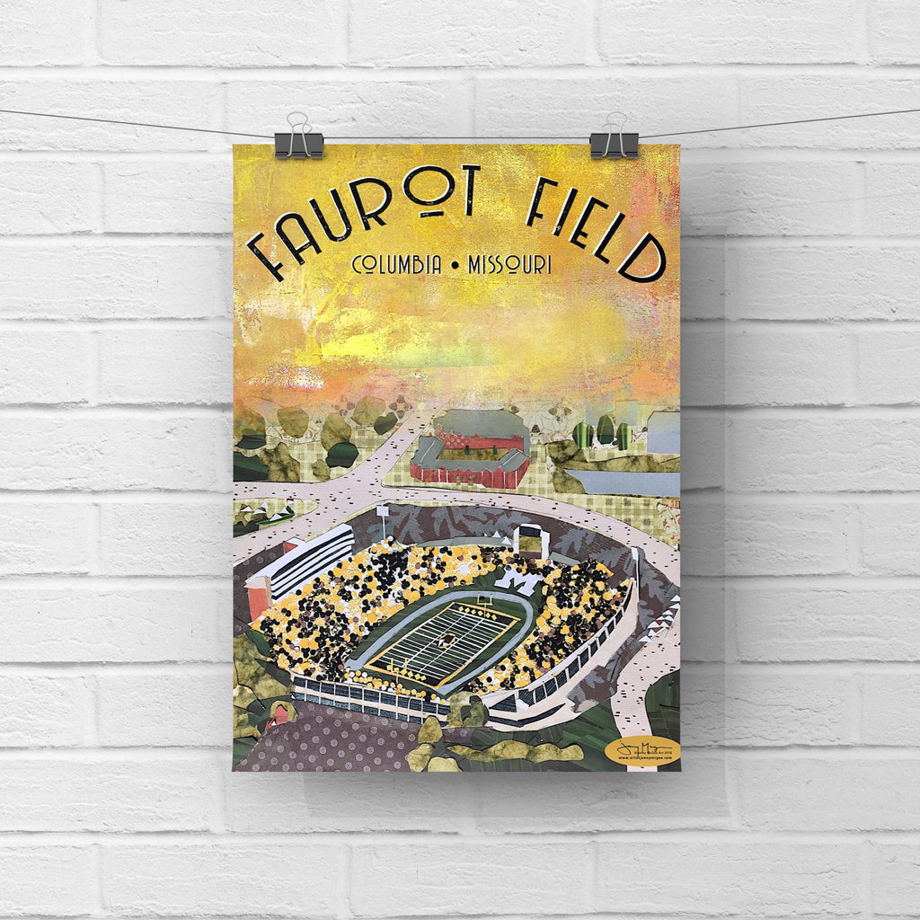 MU Faurot Field Poster or Postcard
