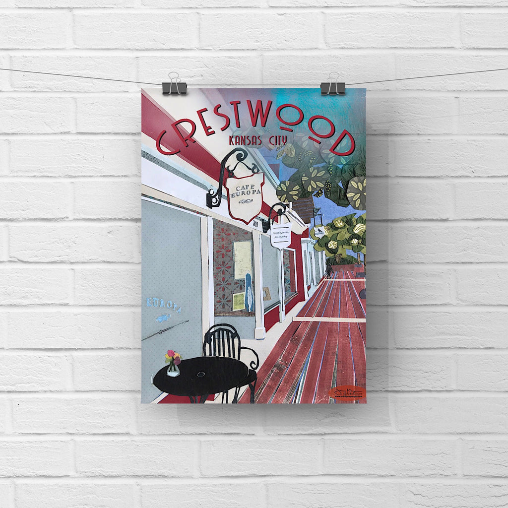 Crestwood Shops, KC Poster or Postcard