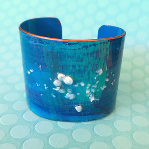 Blue - Hand painted Cuff - 2""