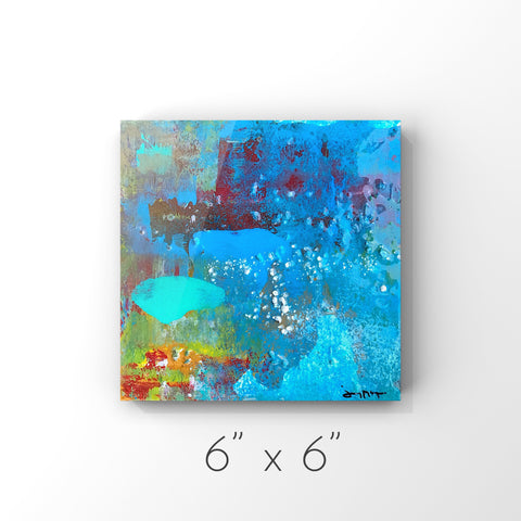 Joy II - Mixed Media Painting with Pearl Size 6x6