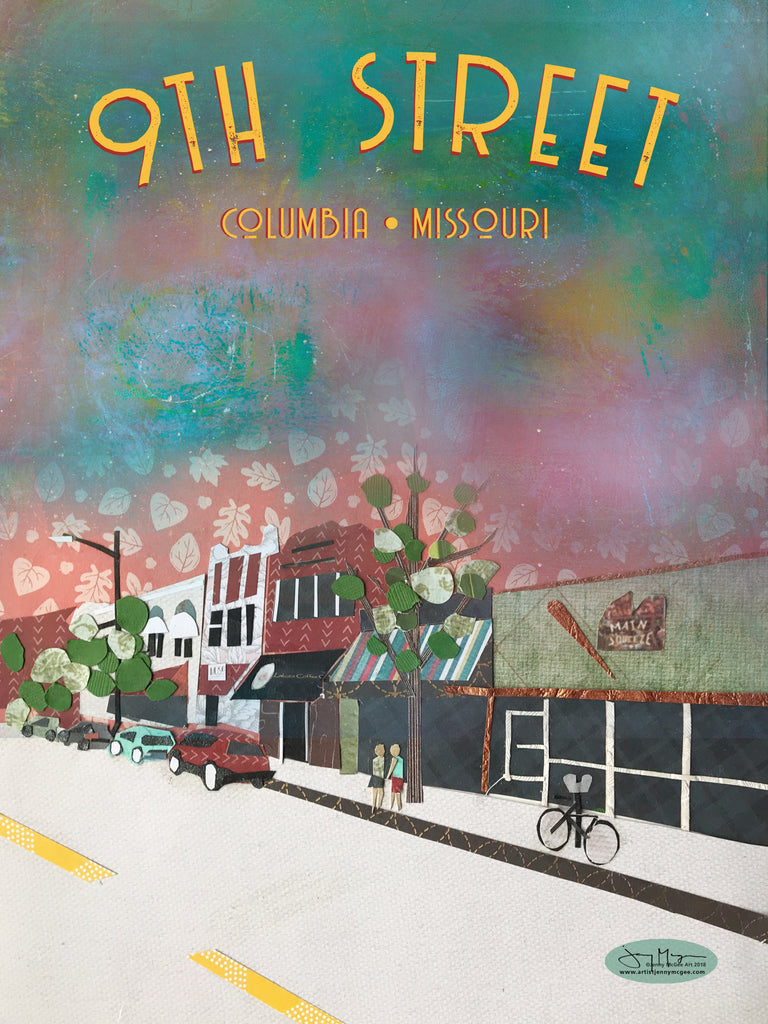 9th Street Poster or Postcard