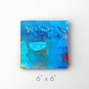 Joy - Mixed Media Painting with Pearl Size 6x6