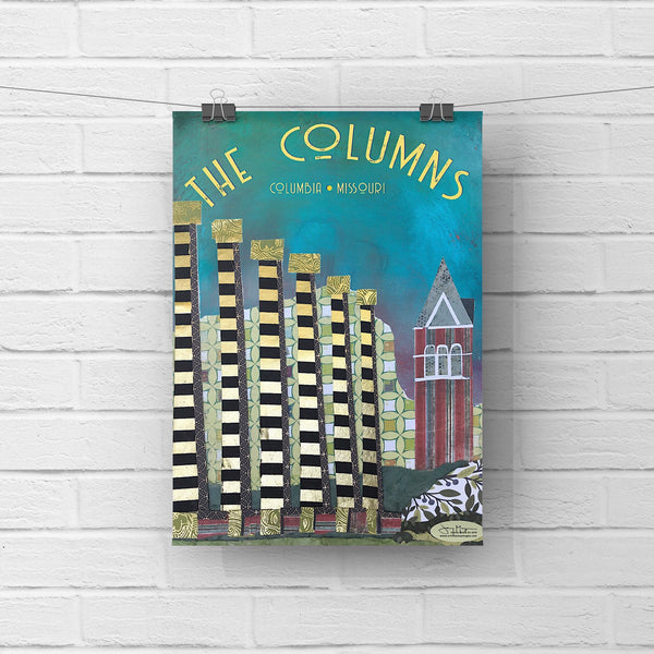The Columns at MU  - Full Color Poster Size 12x16