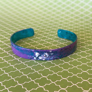 Purple - Hand painted Cuff - .5""