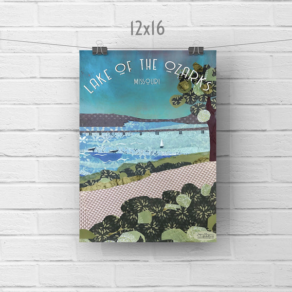 Lake of The Ozarks - Full Color Poster Size 12x16