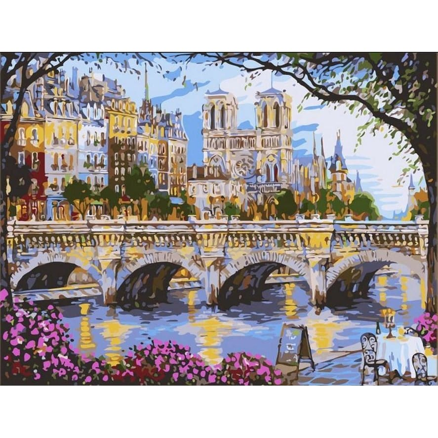 Afternoon By The River Seine - Canvastly DIY Paint By