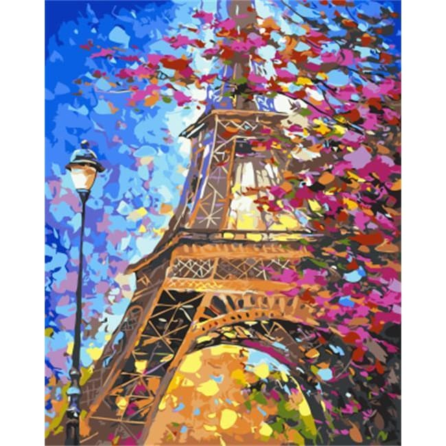 At the Eiffel – Canvastly DIY Paint by Numbers -