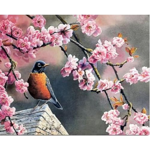 Bird and a Cherrytree – Canvastly DIY Paint By Numbers -