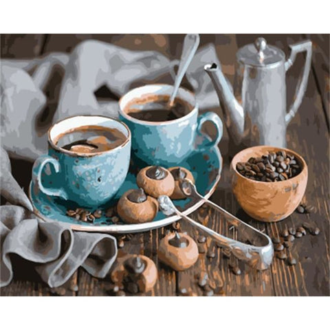 Image of Coffee and Chocolate – Canvastly DIY Paint by Numbers - no