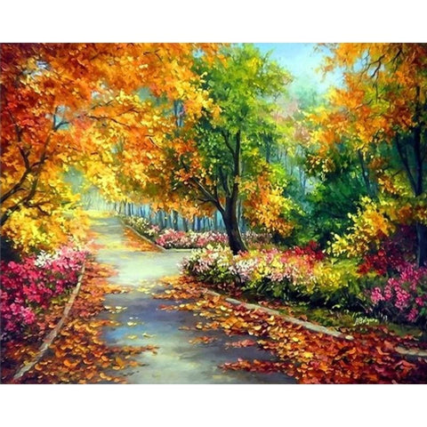 Image of Colorful Forest – Canvastly DIY Paint By Numbers - 40x50cm