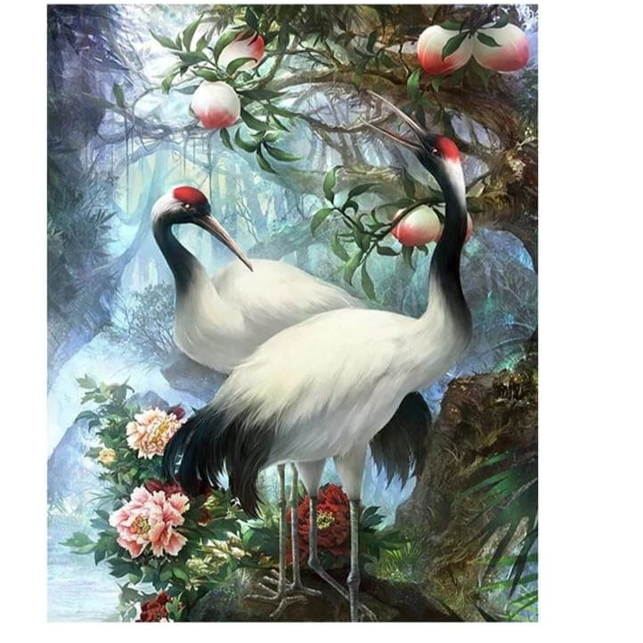 Crowned Crane – Canvastly DIY Painting By Numbers -