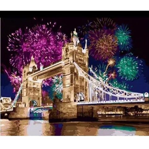 Image of Fireworks – Canvastly DYI Paint By Numbers - 40X50