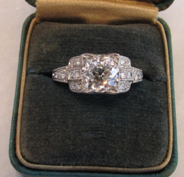 Antique 2.39ct Art Deco Diamond Engagement Ring